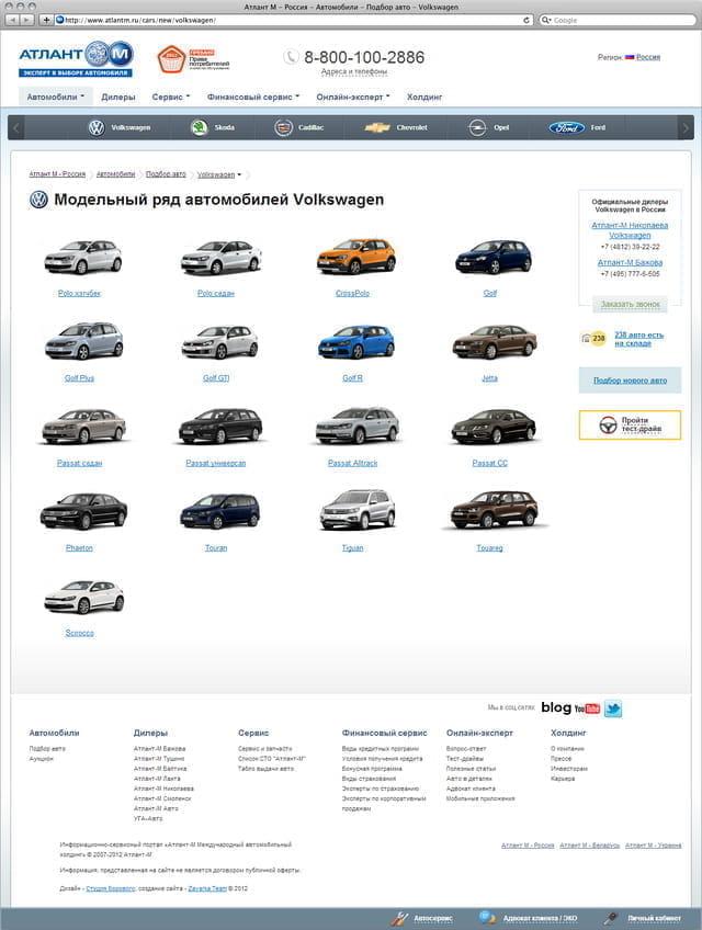 Модельный ряд автомобилей